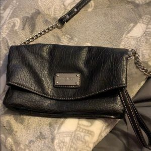 Nine West Black Leather Cross Body